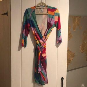Diane von Furstenberg colorful wrap dress